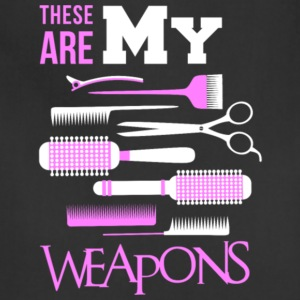 These Are My Weapons Barber's Weapons T Shirt - Adjustable Apron