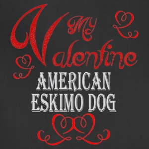 A romantic Valentine with an Eskimo Dog - Adjustable Apron