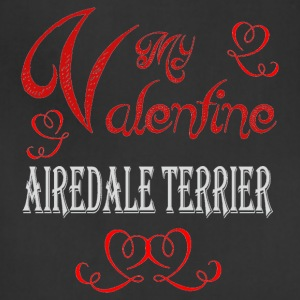 A romantic Valentine with my Airedale Terrier - Adjustable Apron