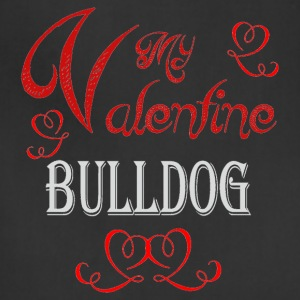 A romantic Valentine with my Bulldog - Adjustable Apron