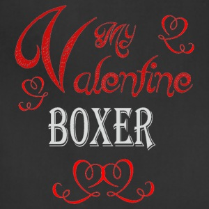 A romantic Valentine with my Boxer - Adjustable Apron