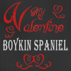 A romantic Valentine with my Boykin Spaniel - Adjustable Apron