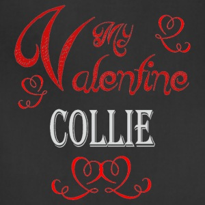 A romantic Valentine with my Collie - Adjustable Apron