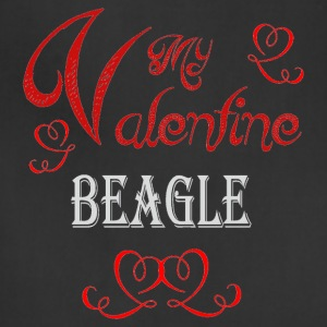 A romantic Valentine with my Beagle - Adjustable Apron