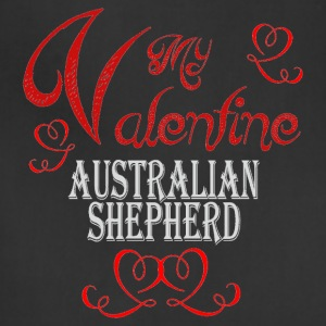 A romantic Valentine with my Australian Shepherd - Adjustable Apron