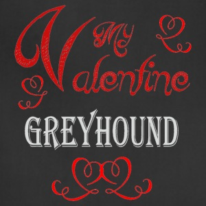 A romantic Valentine with my Greyhound - Adjustable Apron