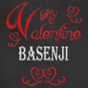 A romantic Valentine with my Basenji - Adjustable Apron