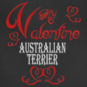 A romantic Valentine with my Australian Terrier - Adjustable Apron