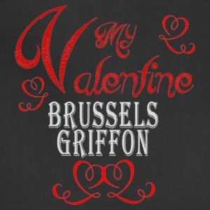 A romantic Valentine with my Brussels Griffon - Adjustable Apron