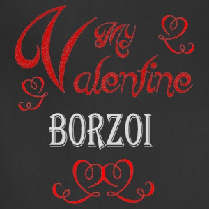 A romantic Valentine with my Borzoi - Adjustable Apron