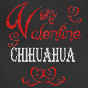 A romantic Valentine with my Chihuahua - Adjustable Apron
