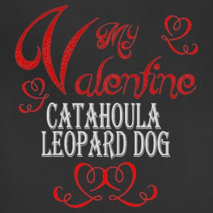 A romantic Valentine with my Catahoula Leopard Dog - Adjustable Apron