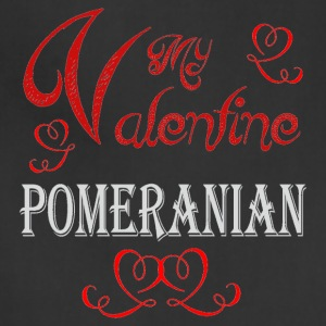 A romantic Valentine with my Pomeranian - Adjustable Apron