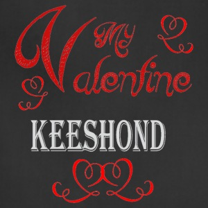 A romantic Valentine with my Keeshond - Adjustable Apron