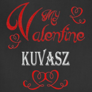 A romantic Valentine with my Kuvasz - Adjustable Apron