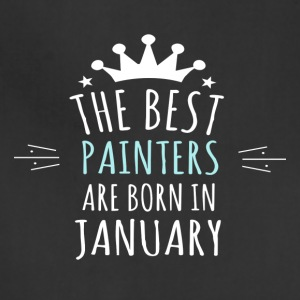 Best PAINTERS are born in january - Adjustable Apron