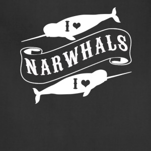 I Love Narwhals Tee Shirt - Adjustable Apron