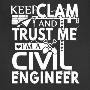 keep calm & i'm a civil engineer shirt - Adjustable Apron