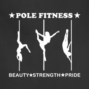 Pole Fitness Beauty Strength Pride T Shirt - Adjustable Apron