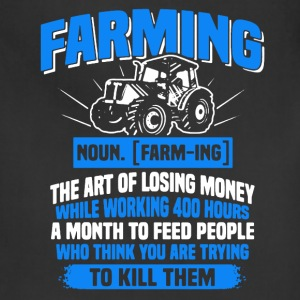 Farming Definition Tee Shirt - Adjustable Apron