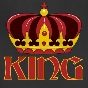 dark red gold king crown - Adjustable Apron