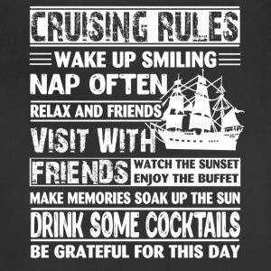 Cruising Rules Tee Shirt - Adjustable Apron