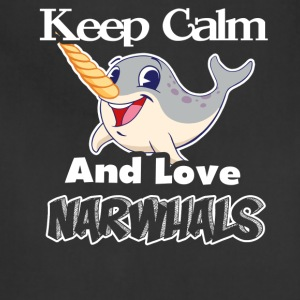 KEEP CALM AND LOVE NARWHAL TEE SHIRT - Adjustable Apron