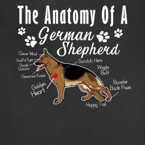 The Anatomy Of A German Shepherd Shirt - Adjustable Apron