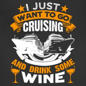 Cruising And Wine Tee Shirts - Adjustable Apron