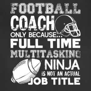 Football Coach Jobtitle Shirts - Adjustable Apron