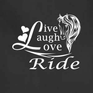 LIVE LAUGH LOVE RIDE HORSES - Adjustable Apron