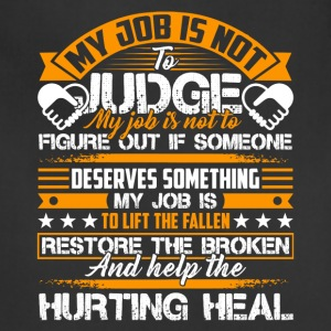 Social Worker Help The Hurting Heal Shirt - Adjustable Apron