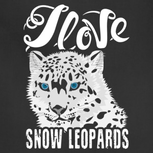I Love Snow Leopards Shirt - Adjustable Apron