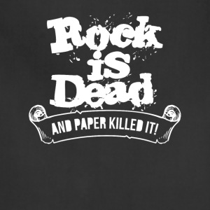 Rock Is Dead and Paper Killed It - Adjustable Apron