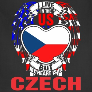 I Live In The Us But My Heart Is In Czech - Adjustable Apron