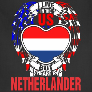 I Live In The Us But My Heart Is In Netherlander - Adjustable Apron
