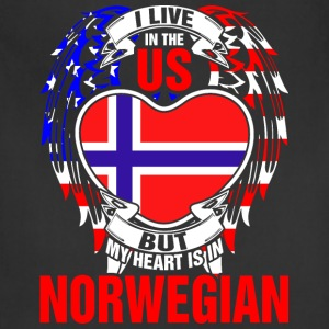 I Live In The Us But My Heart Is In Norwegian - Adjustable Apron