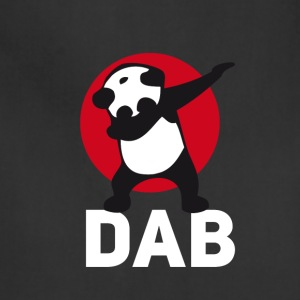 dab panda red DAB panda dabbing football touchdown - Adjustable Apron