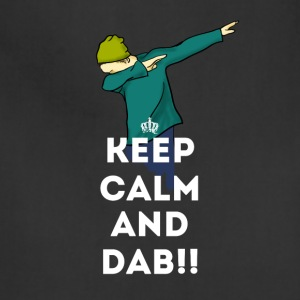 keep calm dab dabbing football touchdown LOL - Adjustable Apron