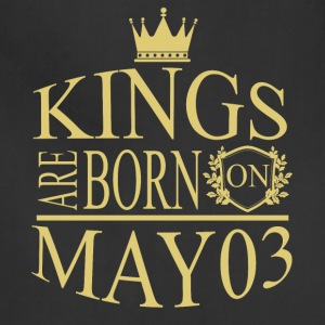 Kings are born on May 03 - Adjustable Apron