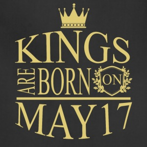 Kings are born on May 17 - Adjustable Apron