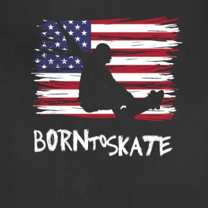 Born to skate America flag usa Pride Street fun lo - Adjustable Apron