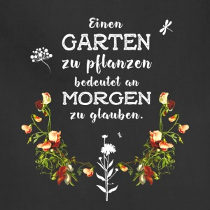 garden Garten german Slogan Love plant flower gree - Adjustable Apron