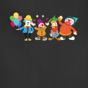 Cute Clowns Graphic Tee Shirt - Adjustable Apron