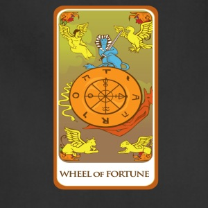 Wheel Of Fortune Tarot Card Tee Shirt - Adjustable Apron