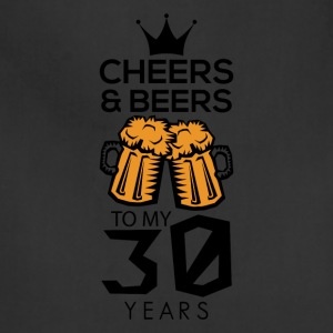 Cheers Beers To My Thirty Years Tee Shirt - Adjustable Apron