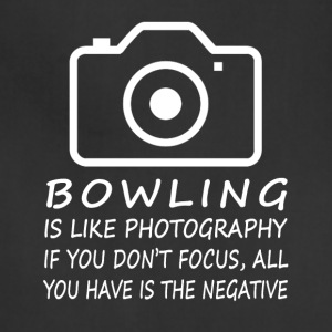 Bowling Like Photography-cool shirt,geek hoodie - Adjustable Apron