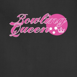 Bowling Queen Cute Graphic Tee Shirt - Adjustable Apron