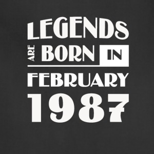 Legends are born in February 1987 - Adjustable Apron