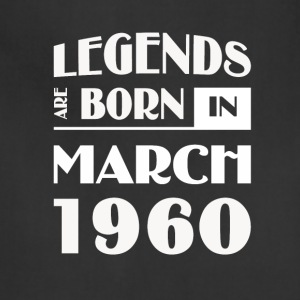 Legends are born in March 1960 - Adjustable Apron